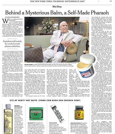 New York Times -  Egyptian Magic